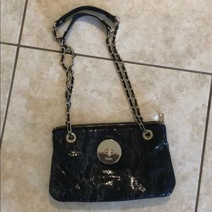 Dkny snakeskin chain purse